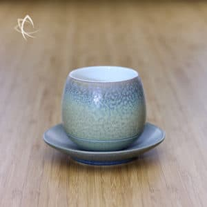 Slate Grey Ju Pi Solo Tea Cup with Saucer Featured View