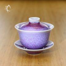 Vermillion Oil Spot Tianmu Glazed Gaiwan Alternative Shade Bright