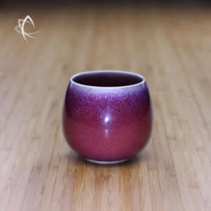 Vermillion Oil Spot Tianmu Solo Tea Cup