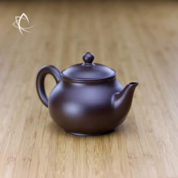 Hand Thrown Elegant Purple Clay Teapot Angled View