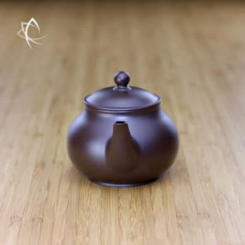 Hand Thrown Elegant Purple Clay Teapot Spout View