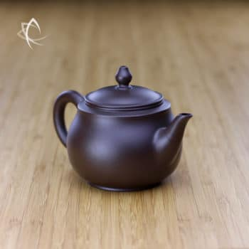 Hand Thrown Refined Purple Clay Teapot Angled View