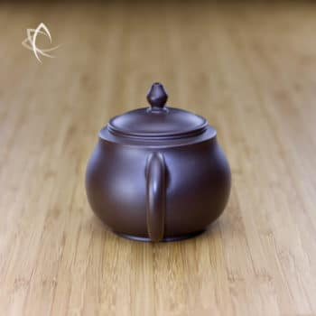 Hand Thrown Refined Purple Clay Teapot Handle View