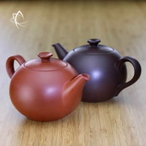 Larger Contemporary Yuan Zhu Clay Teapot Pair Featured View