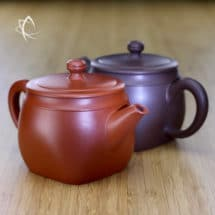 Square Turret Clay Teapot Pair Featured View
