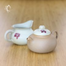 Plum Blossom Gourd-Shaped Teapot and Matching Pitcher Set Featured View