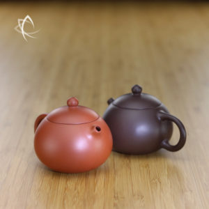 Pocket Xishi Clay Teapot Pair Featured View