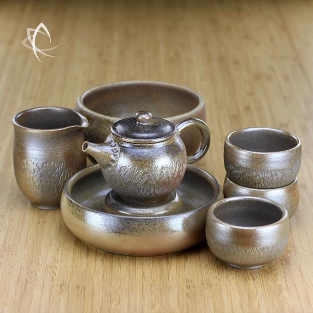 Wood-Fired Golden Mist Hachure Tea Cup, 100 ml - Taiwan Tea Crafts
